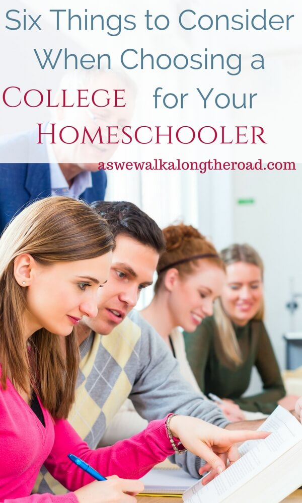 Things to consider when choosing a college for your homeschooled student