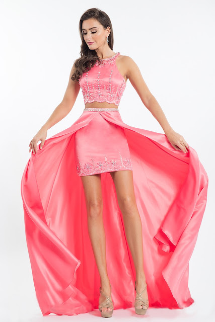 Sleeveless Round Open Back Beaded Satin Two-piece Fitted Mini Dress