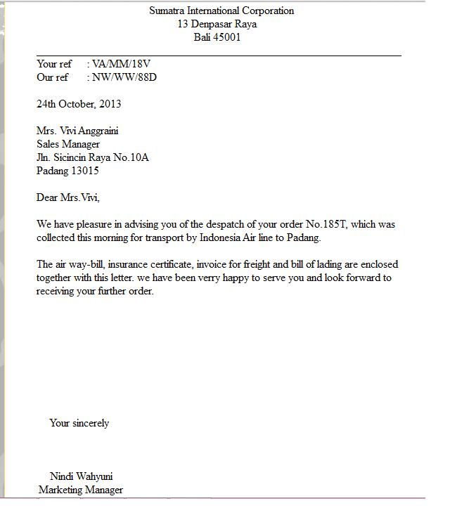 Order Letter Letter