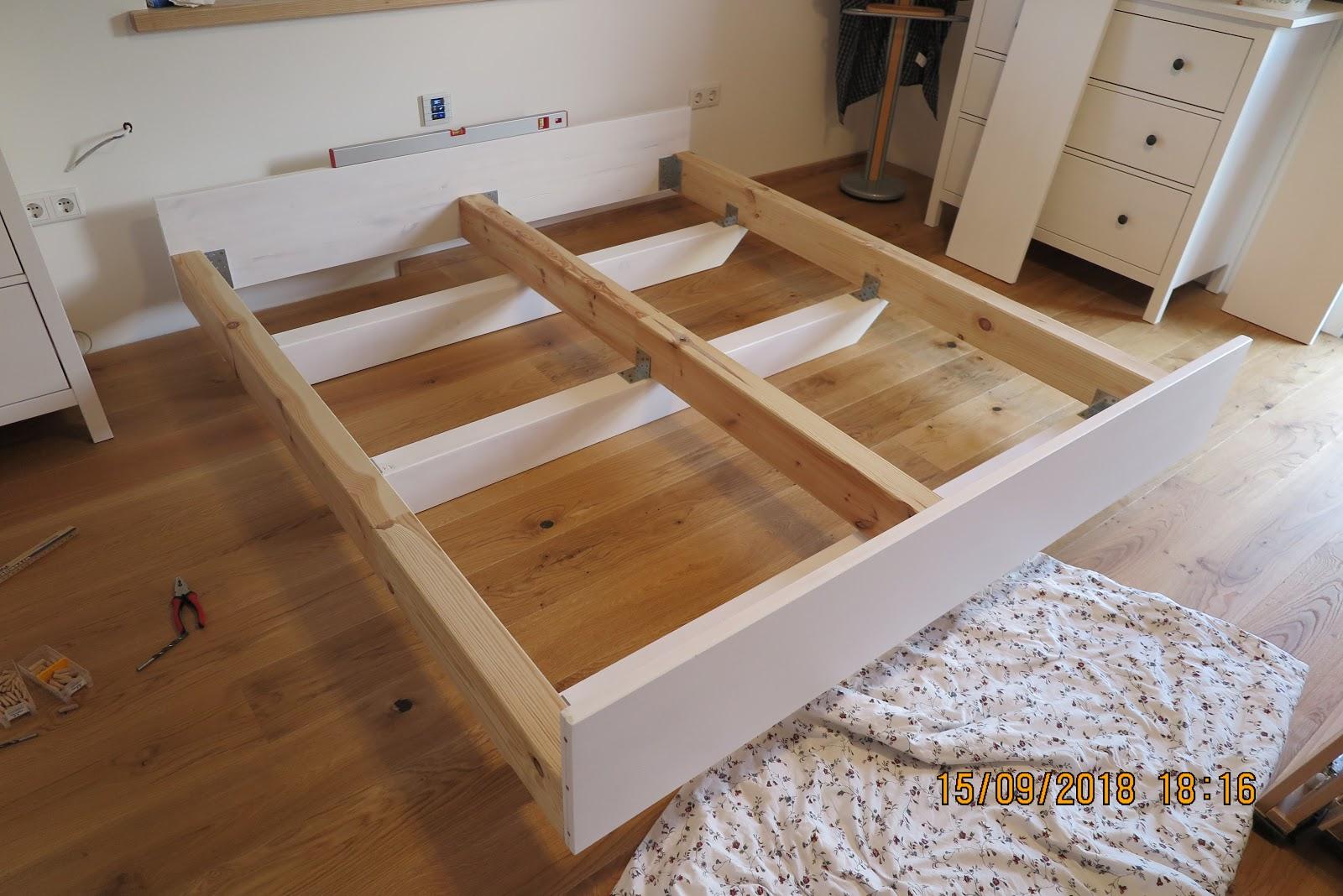 Schwebend selber bauen bett Einzelbett Mit