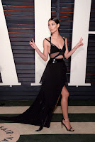 lily aldridge sexy black gown best red carpet dresses 2016 vanity fair oscar party