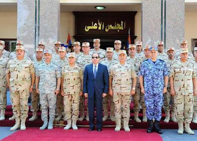 الرئيس السيسى, اجتماع المجلس الاعلى, المجلس الاعلى للقوات المسلحة,
