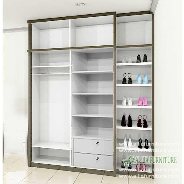 Lemari pakaian desain minimalis unit crocs  Allia Furniture