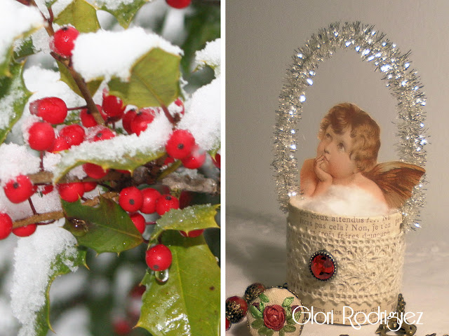 Un jard n de cintas decoracion navide a hecha en casa - Decoracion hecha en casa ...