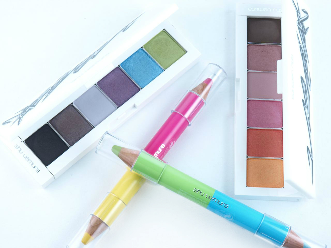 Shu Uemura Vision of Beauty Vol.2 Haute Street Collection Palettes and Eye Color Pe ncils: Review and Swatches
