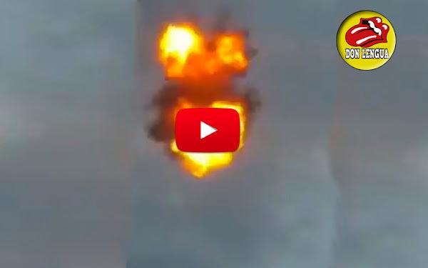 Apareces los videos de los drones cayendo y explotando