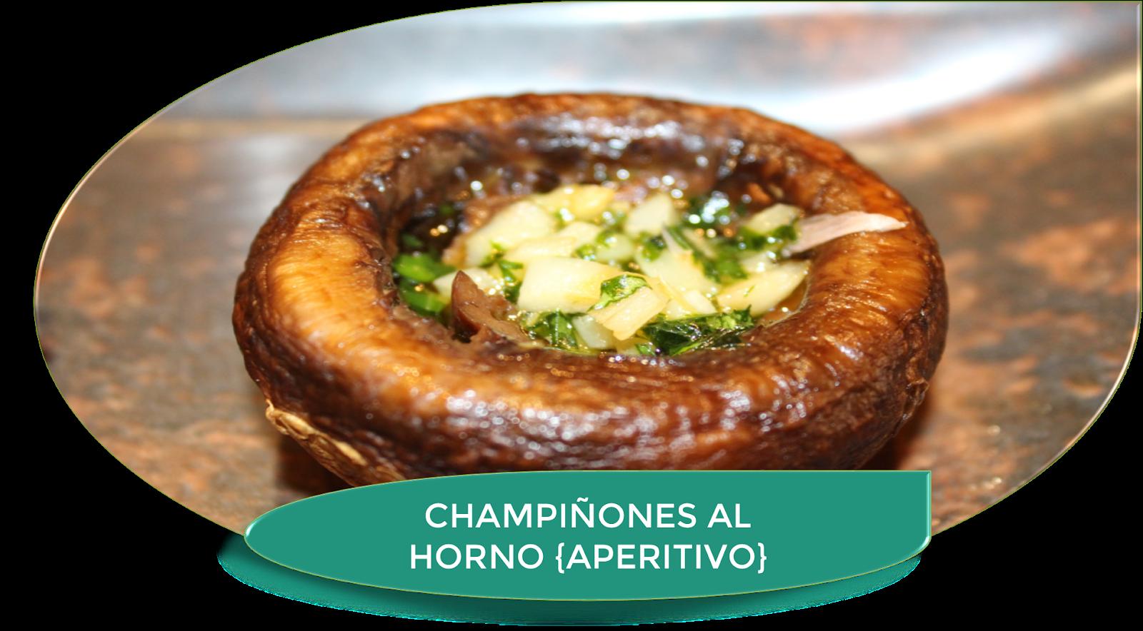 CHAMPIÑONES AL HORNO {APERITIVO FÁCIL Y RICO}