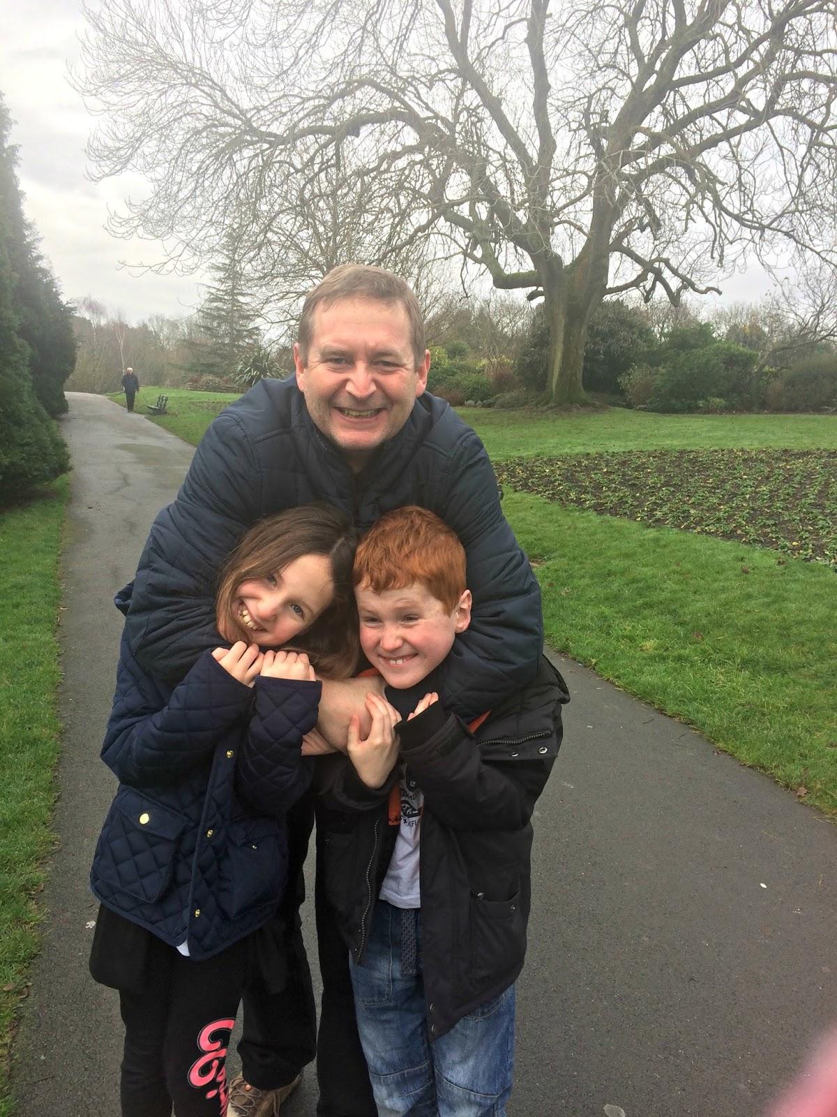 Mat, Caitlin & Ieuan Hobbis in Alexandra Park, Penarth