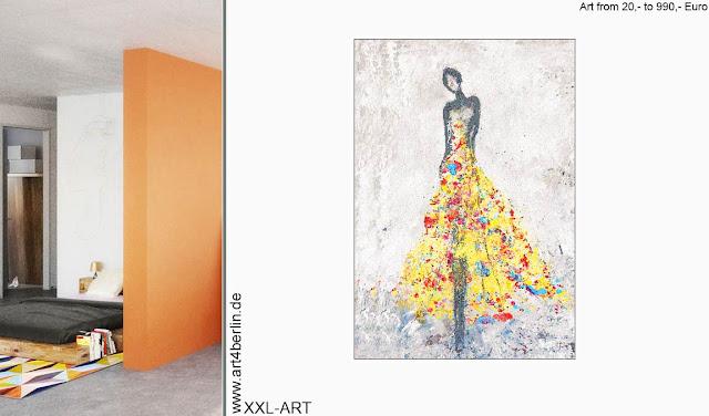 Kunstausstellung, junge Künstler, echte XXL Bilder