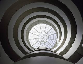Rampa del museo Guggenheim de Nueva York. Concepto.