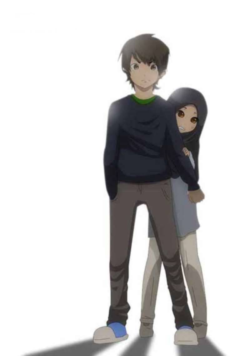 Gambar Kartun Pasangan Berhijab