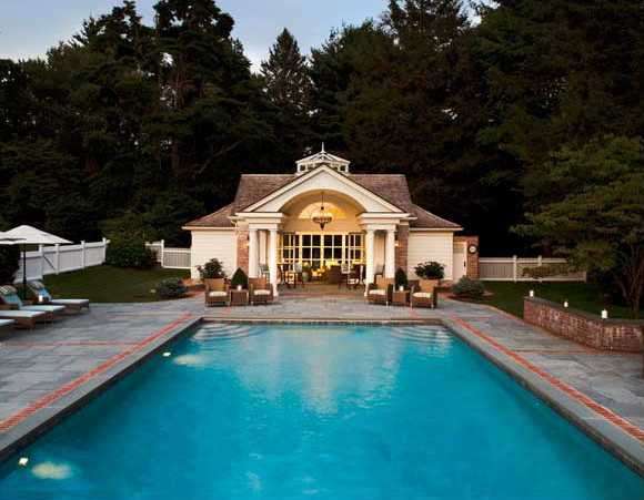 Pretty Pool House By Brooks And Falotico Love The Open Area In Front That S Covered