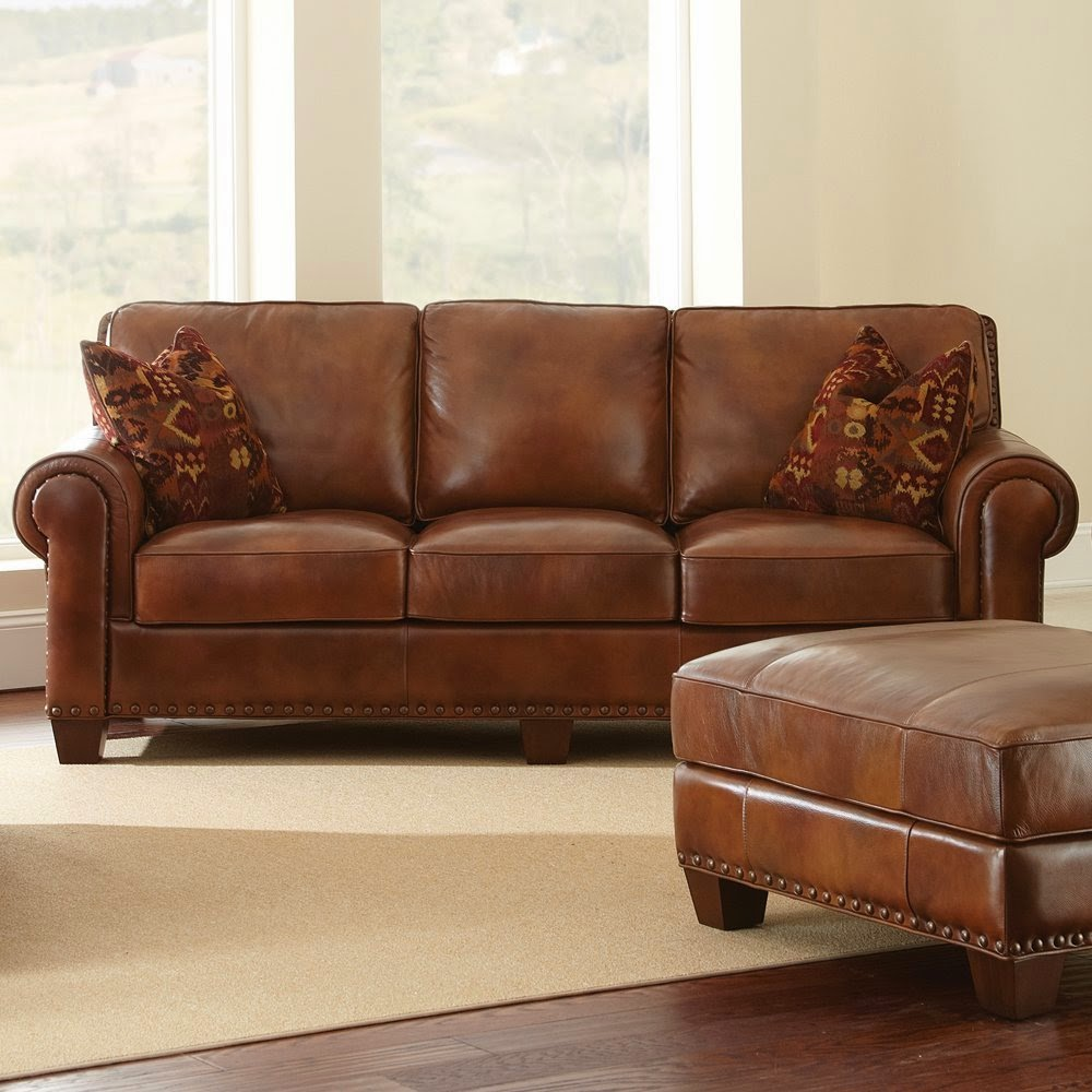 brown leather couch: light brown leather couch
