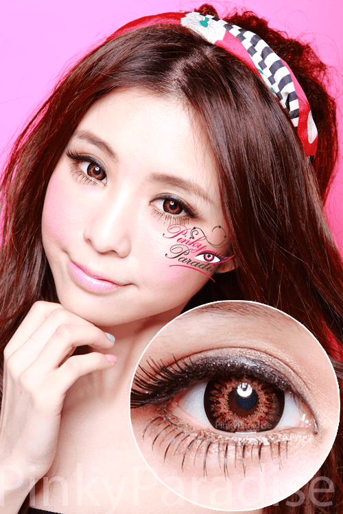 Geo Princess Mimi Chocolate Brown (Bambi series) Circle Lenses (Colored Contacts)