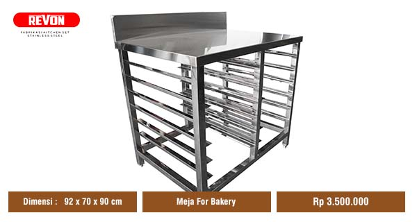 Jual Meja Stainless untuk Dapur Resto