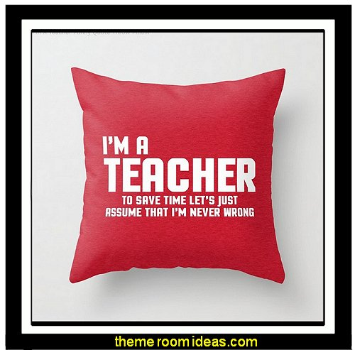 teacher gifts Throw Pillows - decorative pillows - cushion covers - accent pillows - novelty pillows - unique pillows - Cushion Covers -  faux fur pillows - rhinestone  bling pillows - fun pillows - novelty throw pillows - food pillows - dog pillows - cat pillows