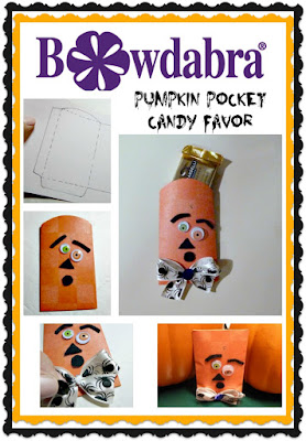 Pumpkin pocket candy favor