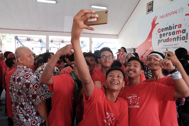 Bergembira di Lapas Anak Tangerang bersama Prudential