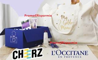 Logo Vinci gratis prodotti L'Occitane en Provence e Memory Box Cheerz
