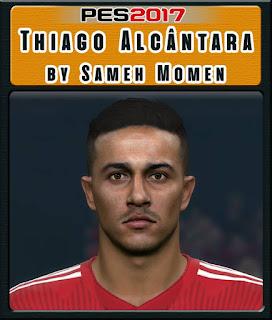 PES 2017 Faces Thiago Alcántara by Sameh Momen