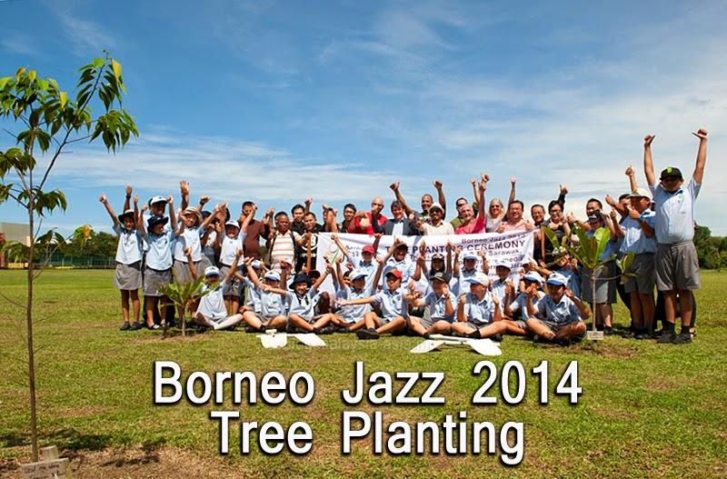 Borneo Jazz Festival Tree planting