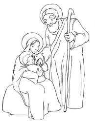 Holy Family Coloring Pages For Kids