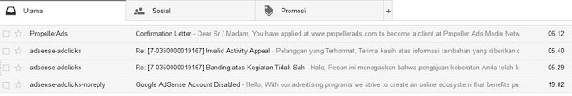 Akun adsense Blog Orang IT dibanned3