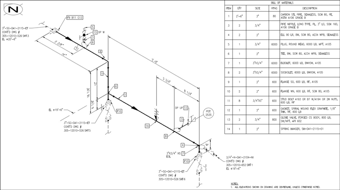 Isometric Pipe Diagram - Wiring Diagram M2 on