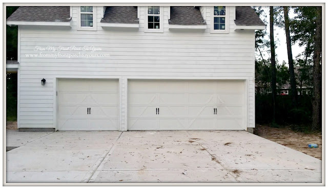 Garage Doors- Farmhouse Style-Carriagehouse Hardware-Front My Front Porch To Yours