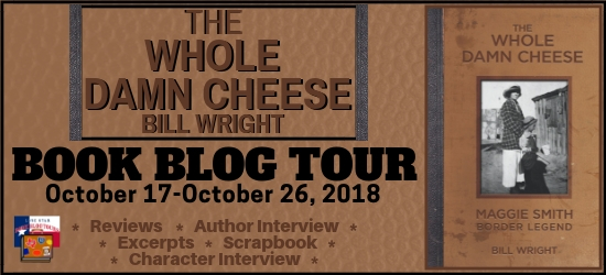 The Whole Damn Cheese book blog tour promotion banner