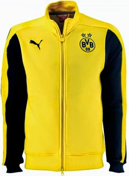 Jaket Borrusia Dortmund terbaru warna kuning list hitam musim 2014 2015  kualitas grade ori made in Thailand. de3d39166e