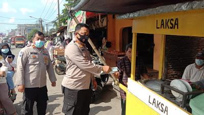 Kapolsek Bersama Tiga Pilar Kecamatan Sepatan Pantau PPKM Mikro