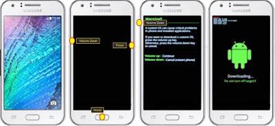 Cara Hard Reset Factory reset Samsung Galaxy J1 Ace
