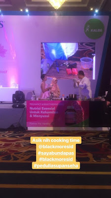 cooking-demo-Blackmores-Pregnancy-and-Breastfeeding-Gold, suplemen Ibu Hamil Dan Menyusui, review blackmores pregnant & breastfeeding, Bunda Peduli Asupan Sehat