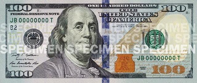 Billete de 100 dólares nuevo