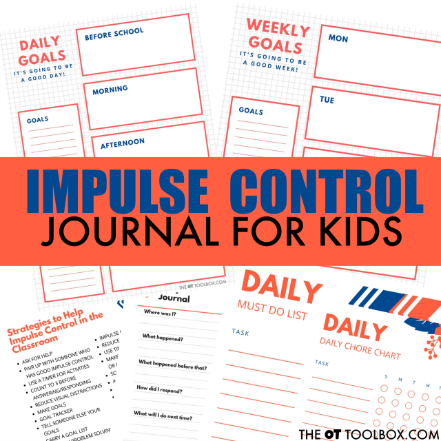 Impulse control journal ideas for kids