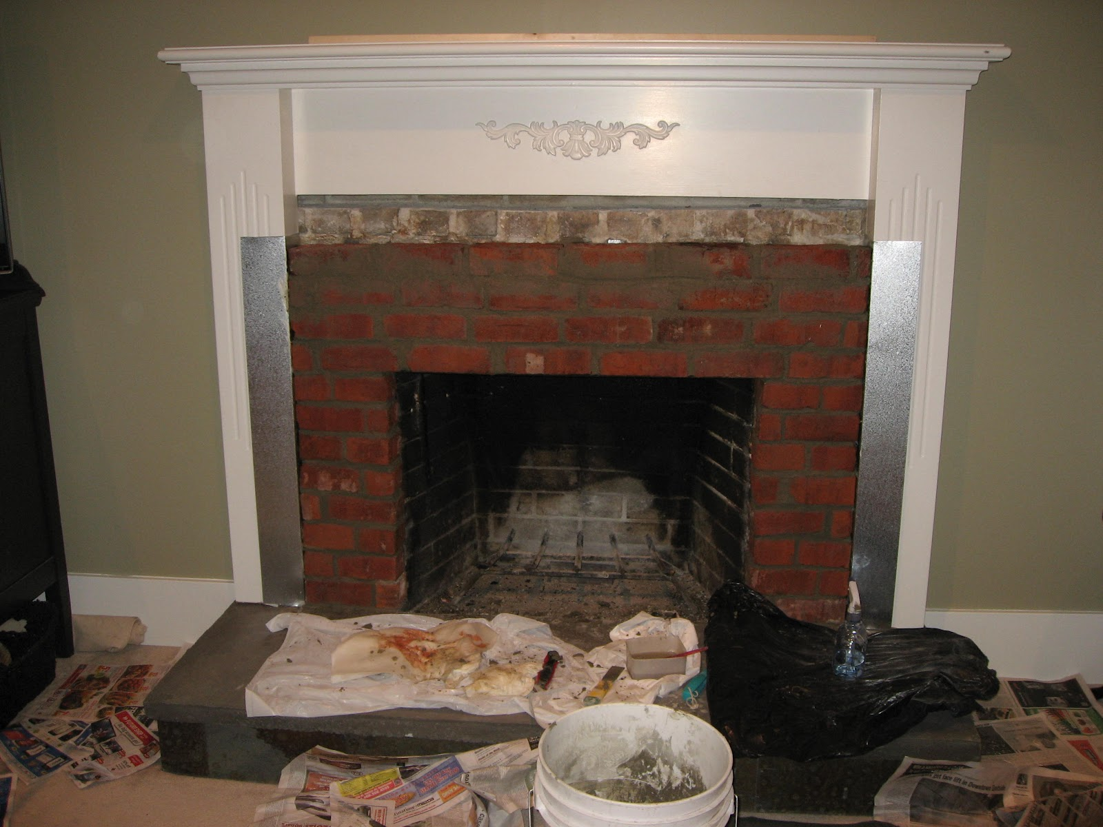 Heather S Home Improvements Livingroom Fireplace Remodel