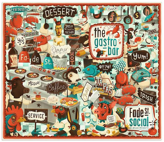 creativos de menú de restaurantes