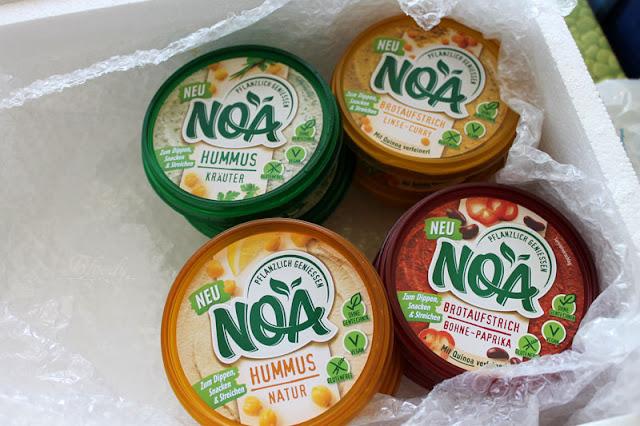 Testpaket mit pflanzlichen Aufstrichen von NOA