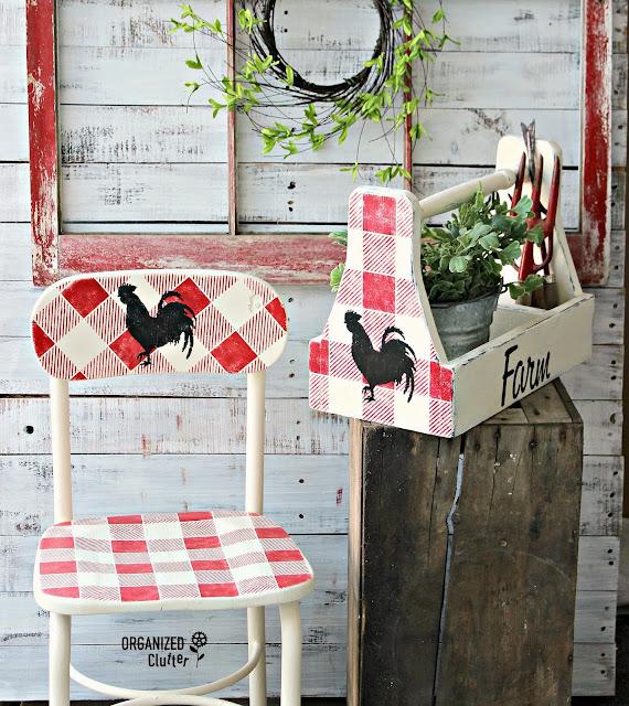 Buffalo Check Child's Chair & Tool Box