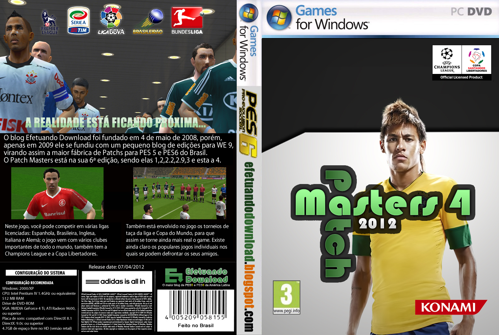 Efetuando Download: [PES 6] Patch Masters 4 (2012)