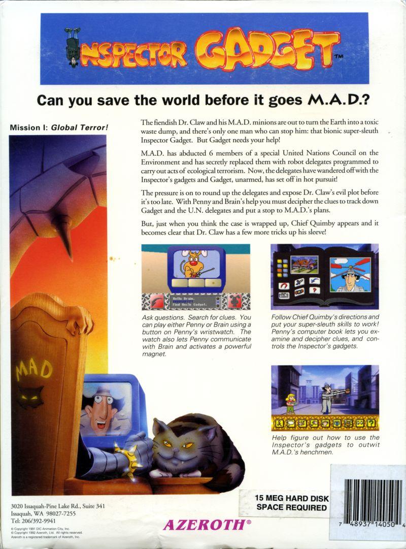 The Adventure Gamer: Game 94: Inspector Gadget: Mission I: Global ...