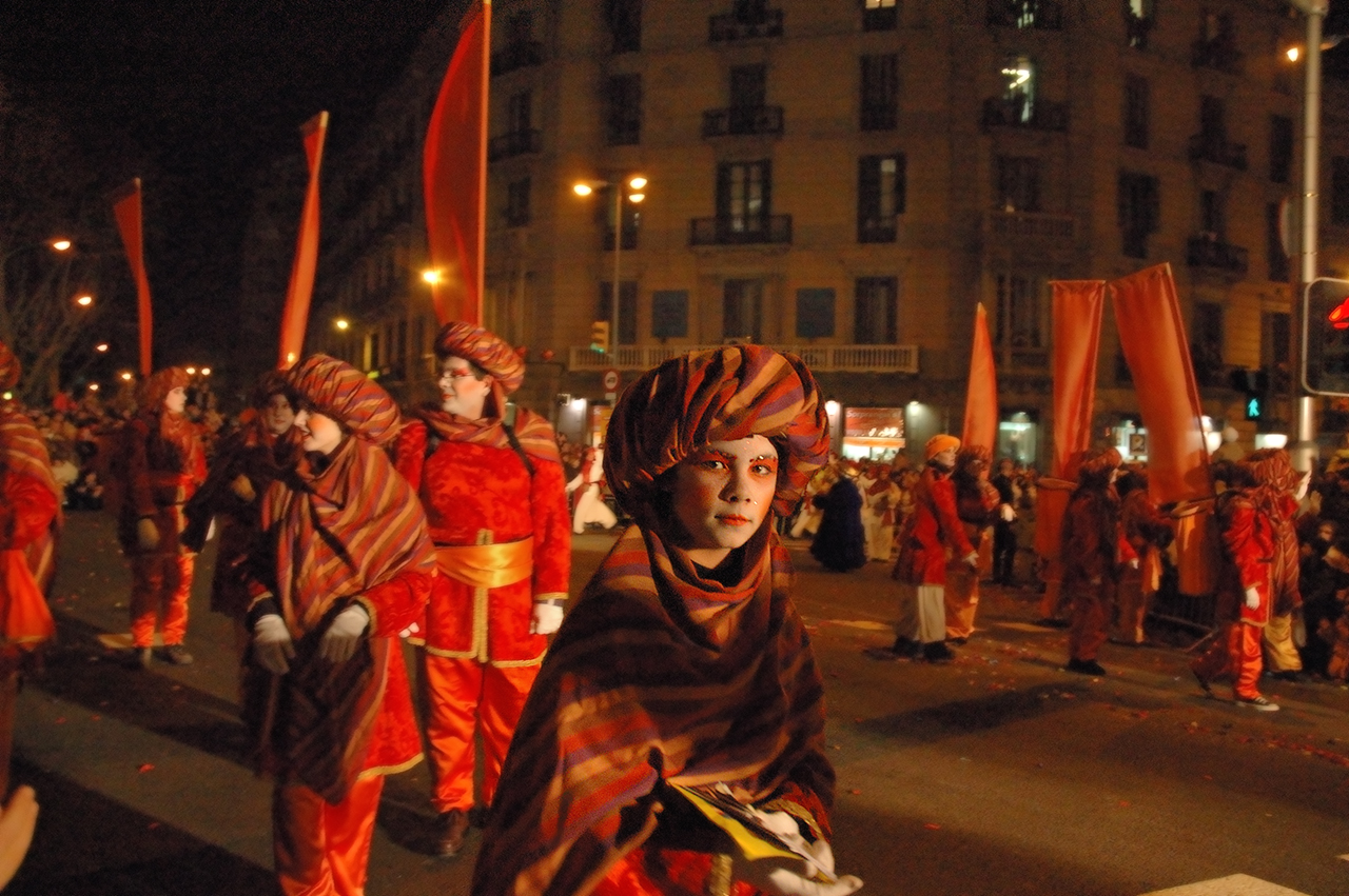 Letter Bearer in Three Wise Men parade or Cabalgata de Reyes