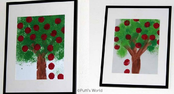 Scrubber and Cork Stamping Apple Tree