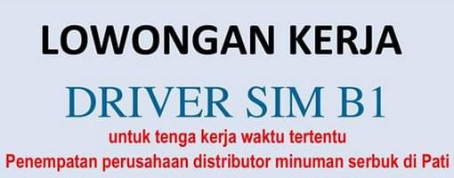 lowongan kerja driver sim b1