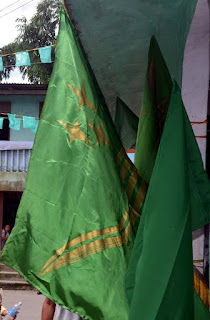 Gorkha National Liberation Front GNLF flag in Nalidara Mungpoo
