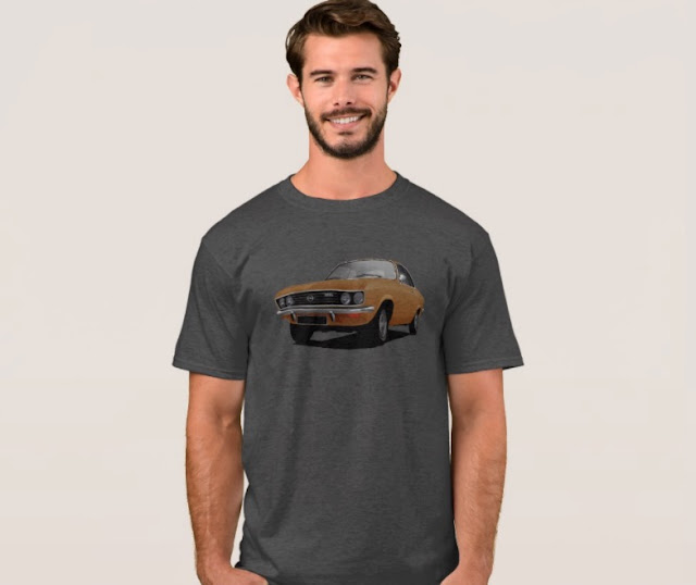Brown Opel Manta A - t-shirt and gifrs