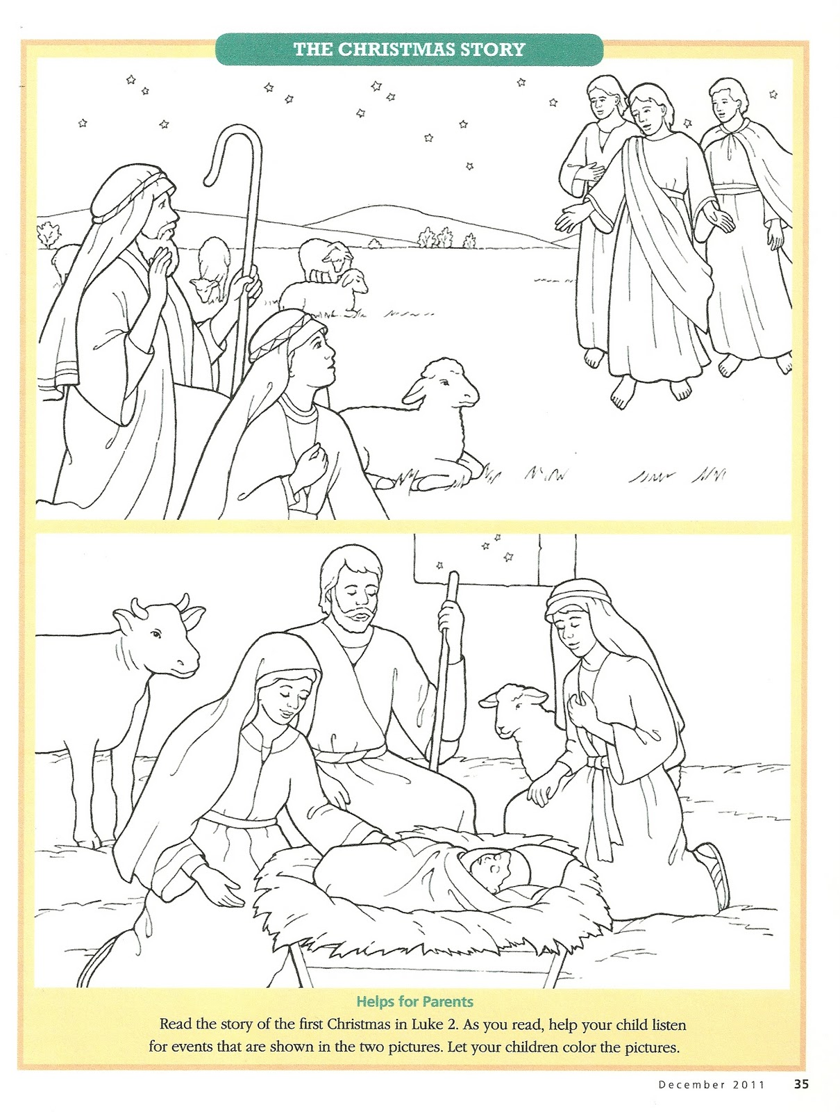 It is a picture of Trust Lds Nativity Coloring Pages