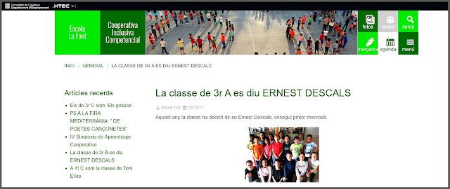 MANRESA-ART-ESCOLES-ESCOLA-LA FONT-NOM-CLASSE-ARTISTA-PINTOR-ERNEST DESCALS