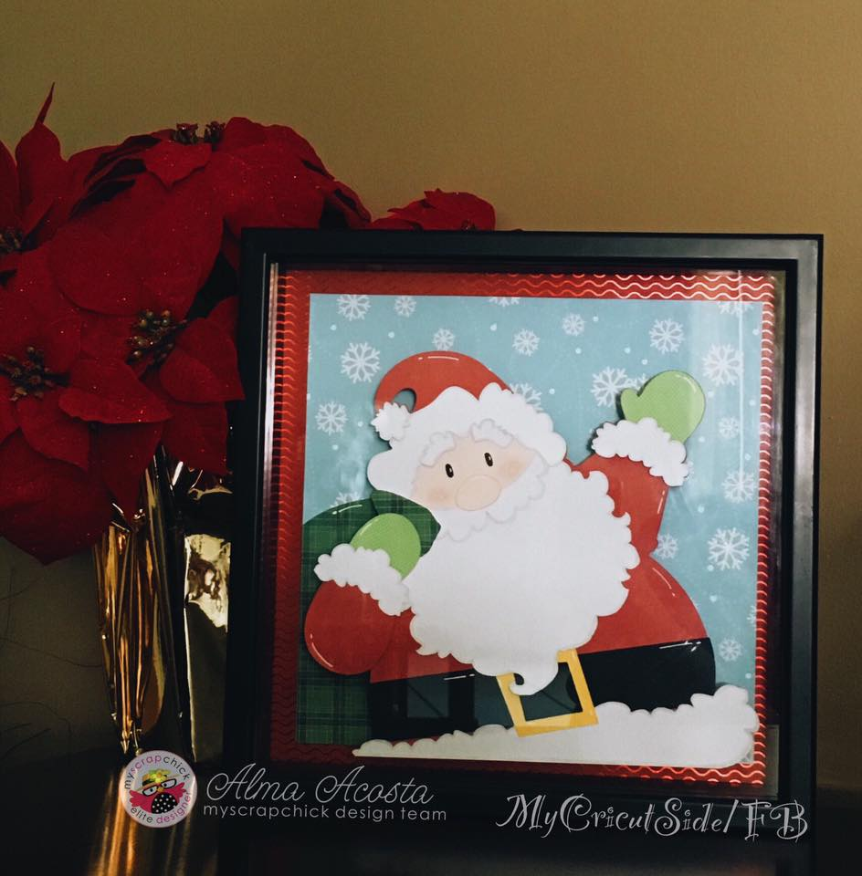 Breaking news santa has been framed myscrapchick alma from our design team is the one who framed this jolly old elf she used the santa from the santa claus 5 piece set and enlarged him to fit her jeuxipadfo Choice Image